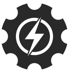 Electric Power Cog Gear Eps Icon vector image