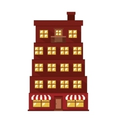 Facade apartment with several floors vector