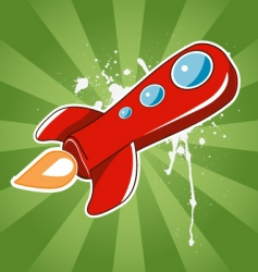 flying the red rocket vector image