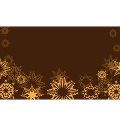 gold snowflakes vector image