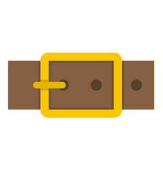 Gold square buckle icon isolated vector