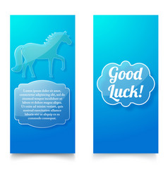 Good luck wishing blue vertical banners vector