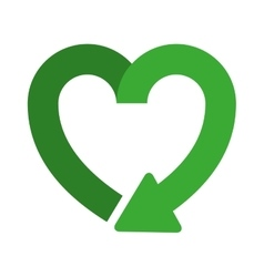 Heart shape symbol of reload icon vector