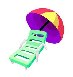 icon beach chair vector image vector image