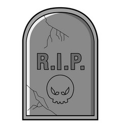 isolated tombstone icon vector image