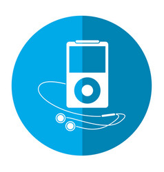 mp3 player headphones image vector image vector image