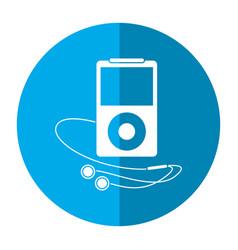 Mp3 player headphones image vector