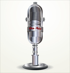 Retro microphone vector image