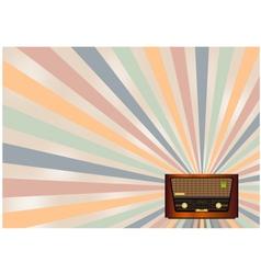 Retro radio background vector