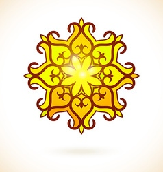 Round ornament vector