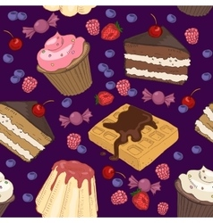 seamless pattern of sweets vector image vector image
