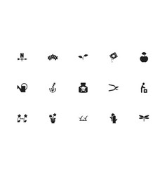 set of 15 editable agriculture icons includes vector image vector image