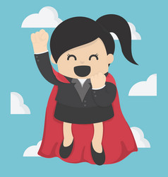 super business woman vector image vector image