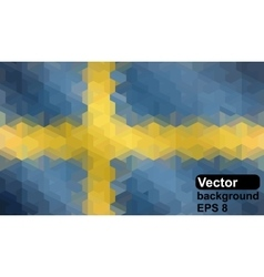 Swedish flag made of geometric shapes vector
