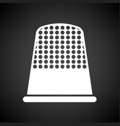 tailor thimble icon vector image vector image