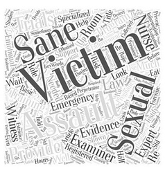 The role of the sexual assault nurse examiner a vector