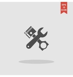 Tools and piston icon service simbol repair vector