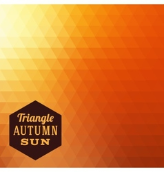 Triangle Autumn Abstract Background vector image vector image