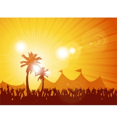 Tropical festival and crowd vector image vector image
