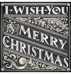 Vintage greeting card text on a blackboard vector