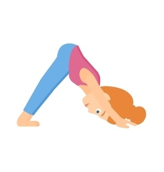 Woman practicing yoga vector