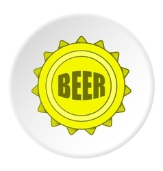 Cover beer icon cartoon style vector
