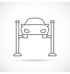 Car lifting outline icon vector