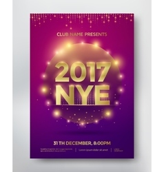 NYE flyer template vector image