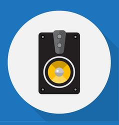 Of home symbol on speaker flat vector