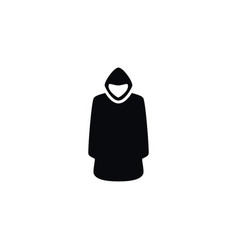 Isolated hood icon cloak element can be vector