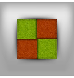 Business four squares vector