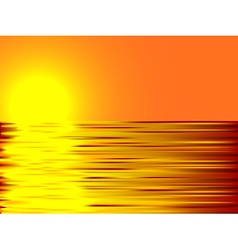 Sunset and water vector