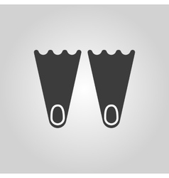 The flippers icon diving symbol flat vector