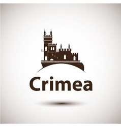 Linear symbol of crimea the castle vector
