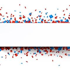Confetti paper celebration banner vector