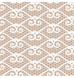 Seamless repeating lace pattern vector