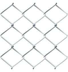 Metal mesh fence vector