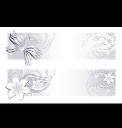 Delicate floral banners vector