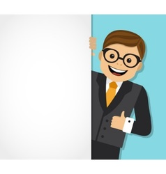Businessman and background with space for text vector