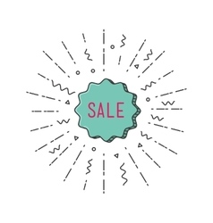 Sale shining banner colorful background in flat vector