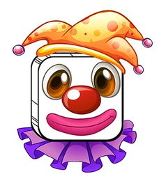 A square clown face vector image vector image