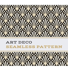 Art Deco seamless pattern black white and gold vector image vector image
