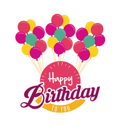 Balloons happy birthday design vector