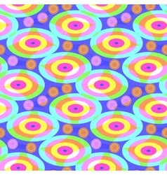 Bright pattern of ovals vector image vector image