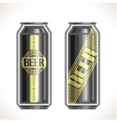 Cans beer vector