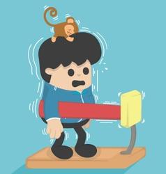 Cartoon exercisesMachine weight vector image
