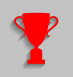 Champions cup sign red icon with soft vector