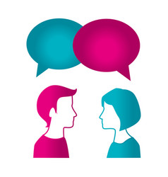 couple with speech bubble vector image