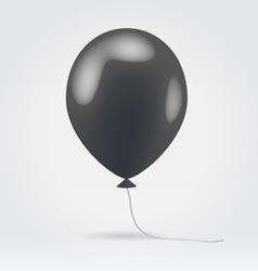 Glossy black balloon vector image