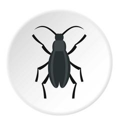 Gray beetle icon circle vector